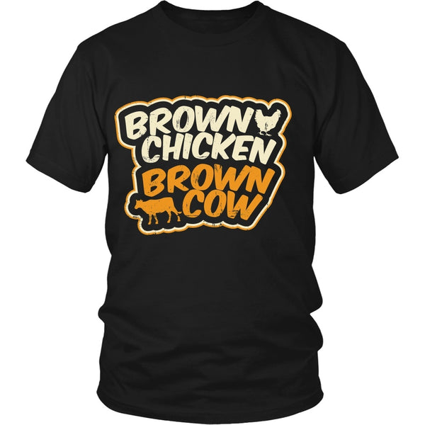 T-shirt - Funny Porn Shirt 2 - Brown Chicken, Brown Cow - Front Design