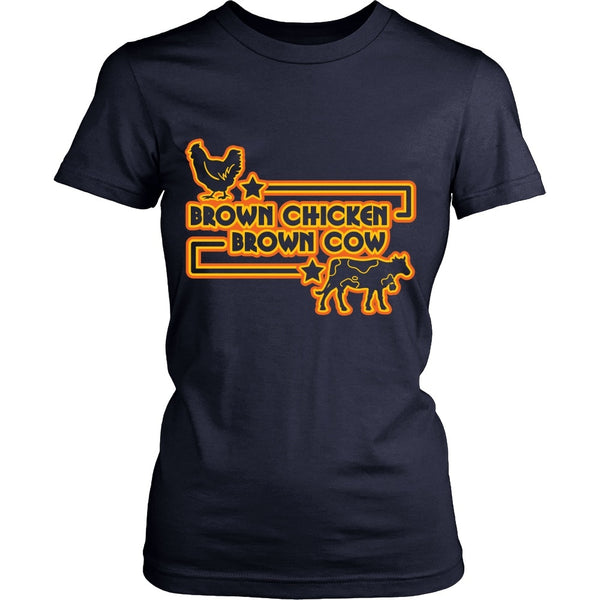 T-shirt - Funny Porn Shirt - Brown Chicken, Brown Cow - Front Design