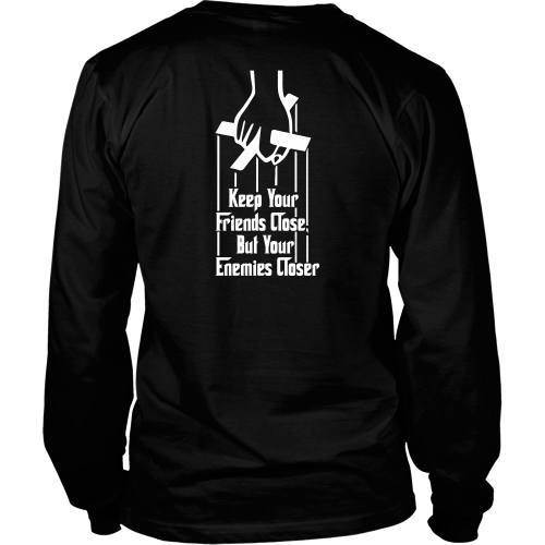 T-shirt - GODFATHER - Keep Your Friends Close - Back Design