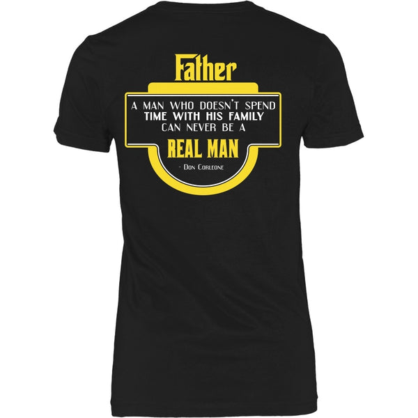 T-shirt - Godfather - Man Who Spends Time With His Family - Back Design