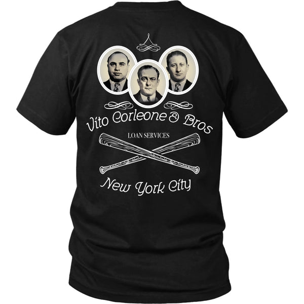 T-shirt - Godfather - Vito Corleone And Bros Loan Services - Back Design