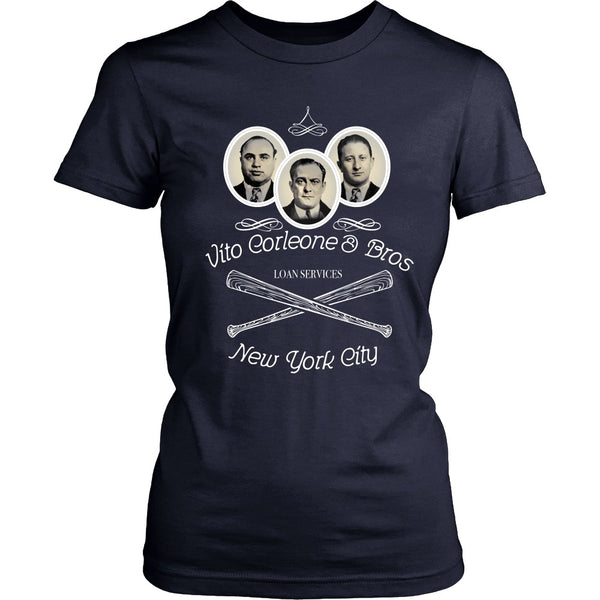 T-shirt - Godfather - Vito Corleone And Bros Loan Services - Front Design