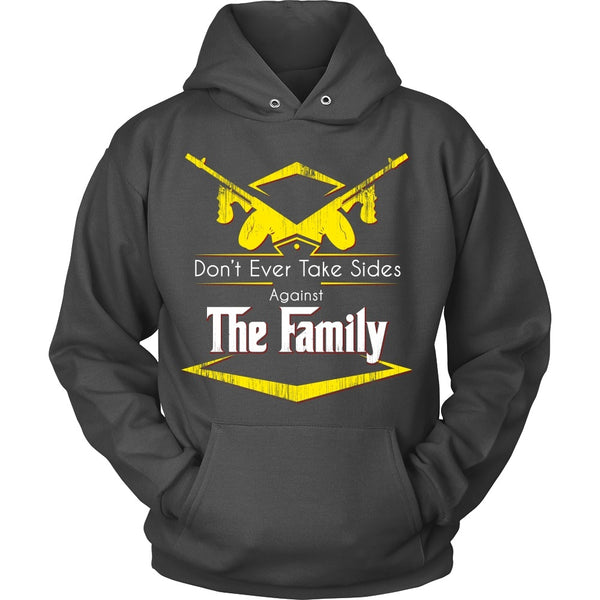 T-shirt - Godfather - (Yellow) Don't Ever Take Sides Against The Family - Front Design