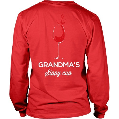 T-shirt - Grandma's Sippy Cup - Funny Wine Tee Shirt -Back