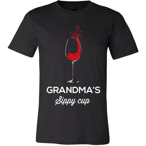 T-shirt - Grandma's Sippy Cup - Funny Wine Tee Shirt - Front