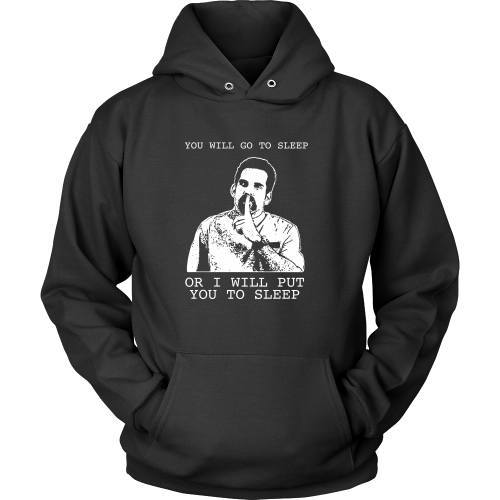 T-shirt - Happy Gilmore - Go To Sleep Or I Will Put You To Sleep Tee -  Front Design