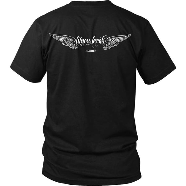 T-shirt - HCBBFF - Fitness Freak Wings (A) - Back Design