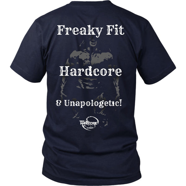T-shirt - HCBBFF - Freaky Fit, Hardcaore, And Unapologetic - Back Design