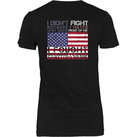T-shirt - I Fought For What I Left Behind - Back Desgin