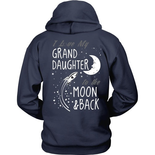 T-shirt - I Love My Granddaughter To The Moon And Back - Back