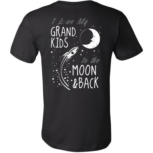T-shirt - I Love My Grandkids To The Moon And Back - Back Design