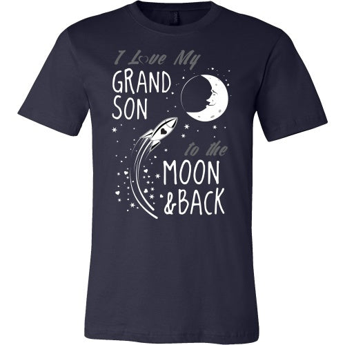 T-shirt - I Love My Grandson To The Moon And Back - Front