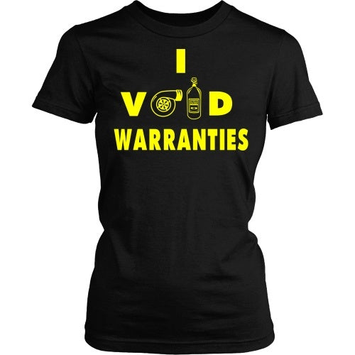 T-shirt - I Void Warranties Tee- Yellow