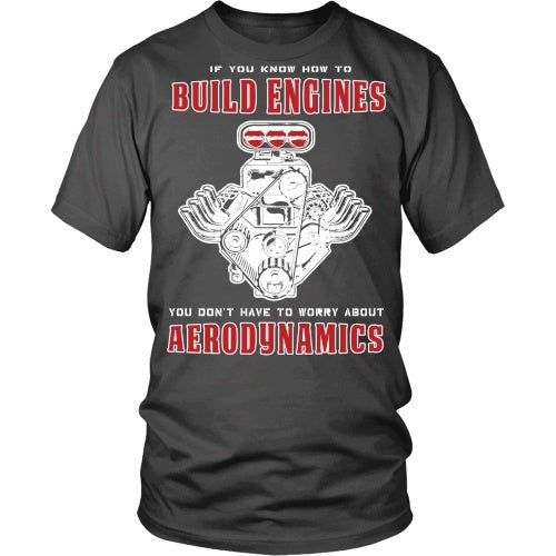 T-shirt - If You Can Build Engines You Don't Need Aerodynamics-Front