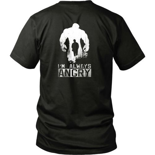 T-shirt - INCREDIBLE HULK - You Won't Like Me When I'm Angry - Back Design