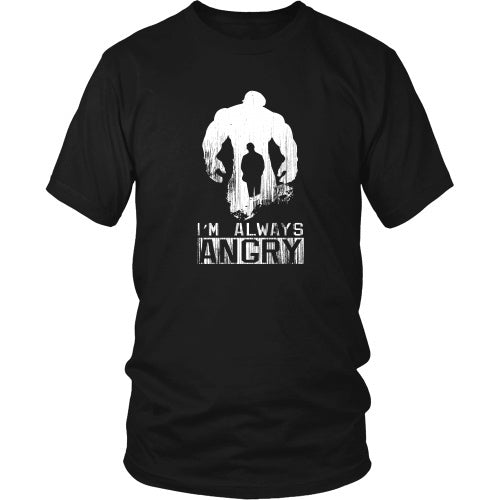 T-shirt - INCREDIBLE HULK - You Won't Like Me When I'm Angry - Front Design
