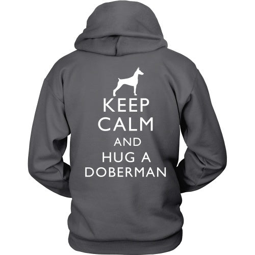 T-shirt - Keep Calm And Hug A Doberman - Back