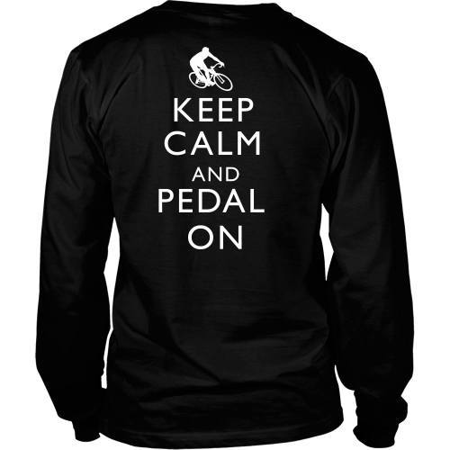 T-shirt - Keep Calm And Pedal On-Back