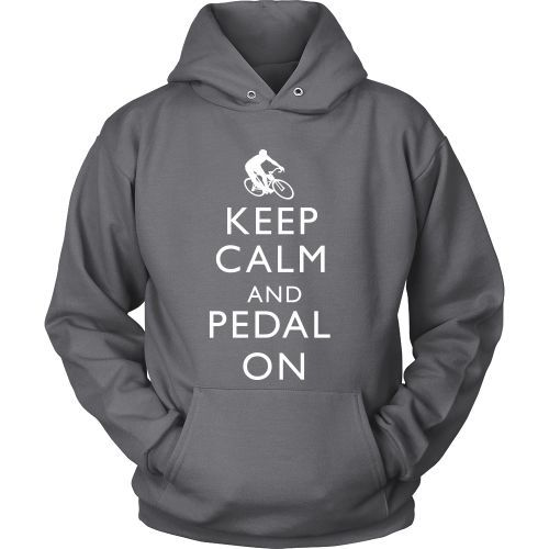 T-shirt - Keep Calm And Pedal On-Front