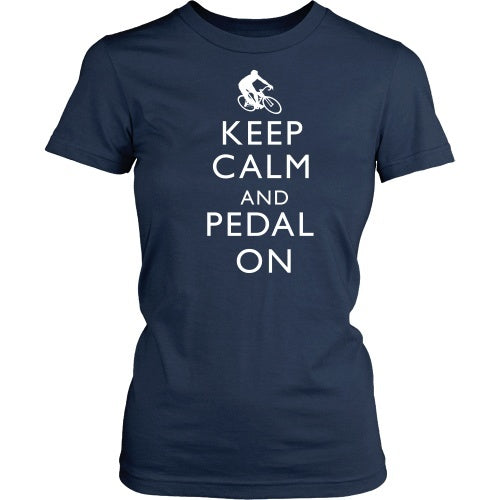 T-shirt - Keep Calm And Pedal On - Front
