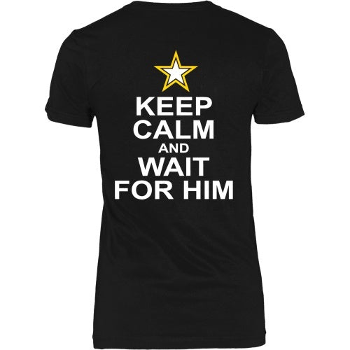 T-shirt - Keep Calm And Wait For Him - Back
