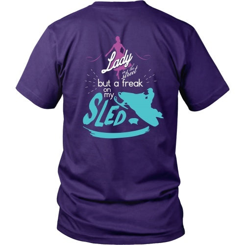 T-shirt - Lady Sled - Back Design
