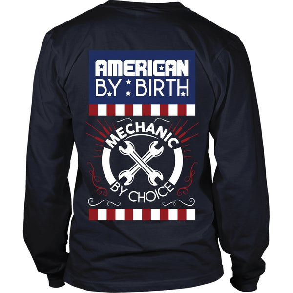 T-shirt - Mechanic - American By Birth, Mechanic By Choice - Back Design