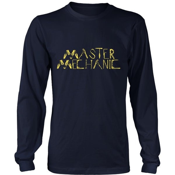 T-shirt - Mechanic - Master Mechanic (Yellow) -  Front Design