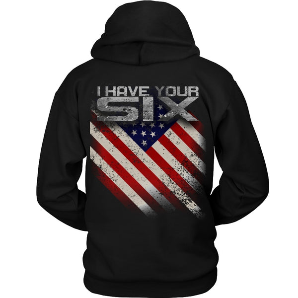T-shirt - Military - I Have Your Six - Back Design