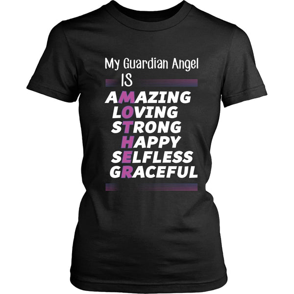 T-shirt - Mother Is My Guardian Angel (Purple) - Front Design