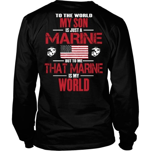 T-shirt - My Marine Son Is My World - Back Design