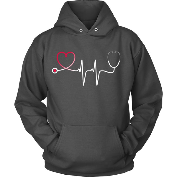 T-shirt - Nursing Stethoscope Heartbeat - Front Design