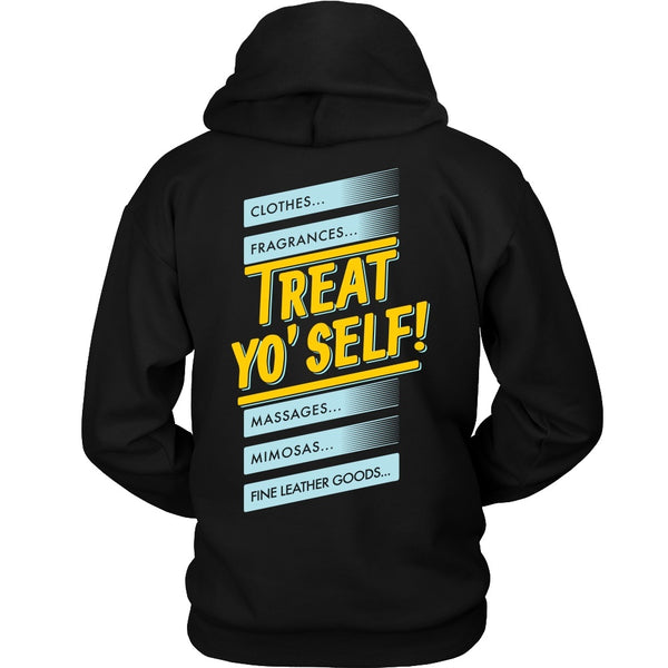 T-shirt - Parks And Recreation - Treat Yo Self! (Back Design)