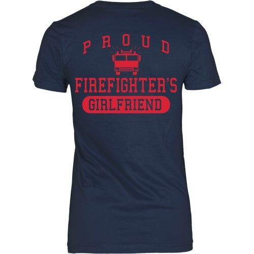 T-shirt - Proud Firefighters Girlfriend - Back Design