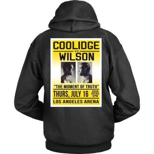 T-shirt - Pup Fiction Coolidge Vs Wilson - Back Design