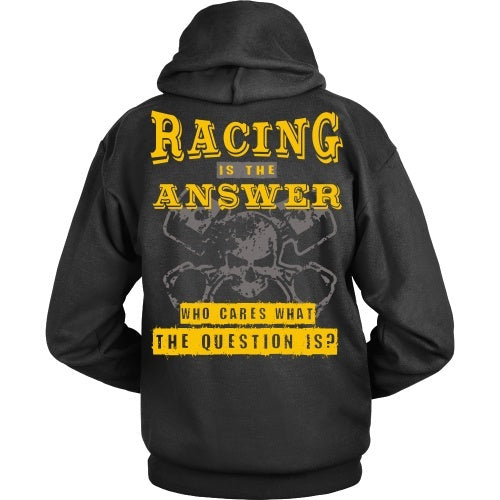 T-shirt - Racing Is The Answer Gold - Back Design