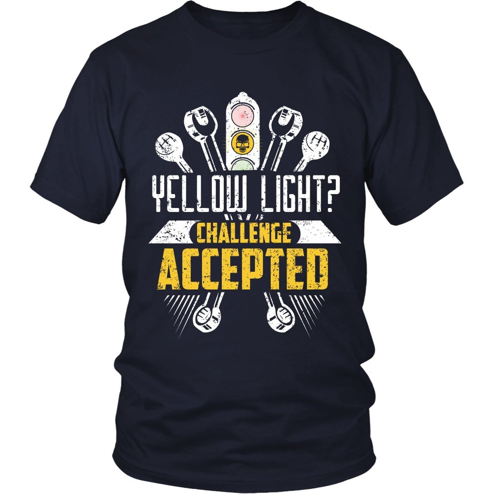 T-shirt - Racing - Yellow Light?  Challenge Accepted - Front Design