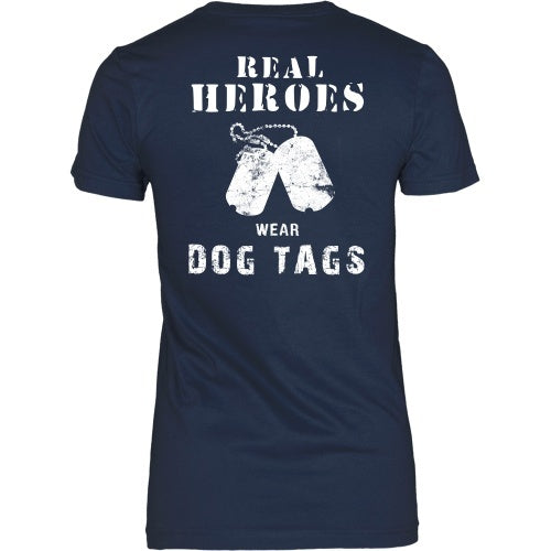 T-shirt - Real Heroes Wear DogTags