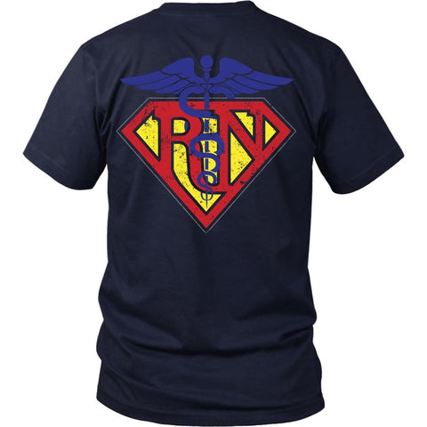 T-shirt - Registered Nurse Superman - Back Design