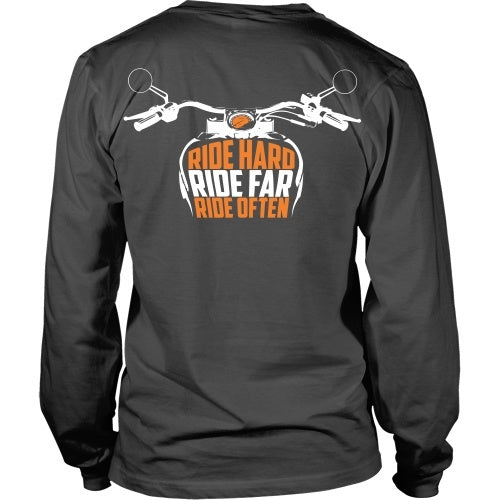T-shirt - Ride Hard, Ride Far, Ride Often - Back Design