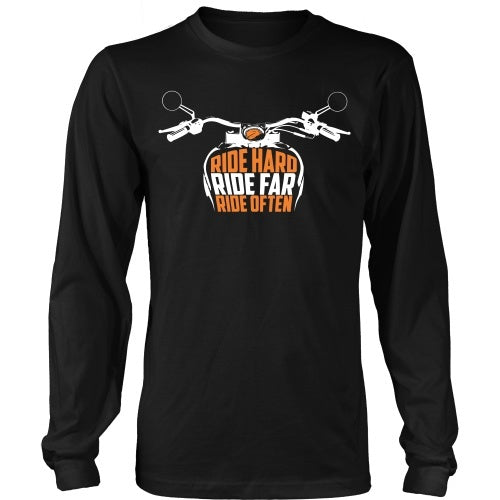 T-shirt - Ride Hard, Ride Far, Ride Often - Front Design