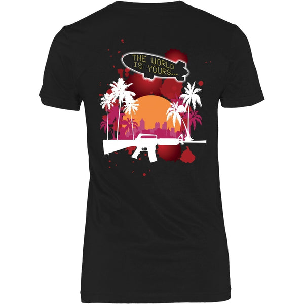 T-shirt - Scarface - The World Is Yours Blimp -Red-  Back Design