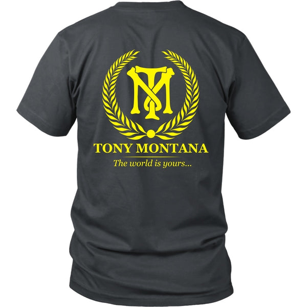T-shirt - Scarface - Tony Montana (Yellow) - Back Design