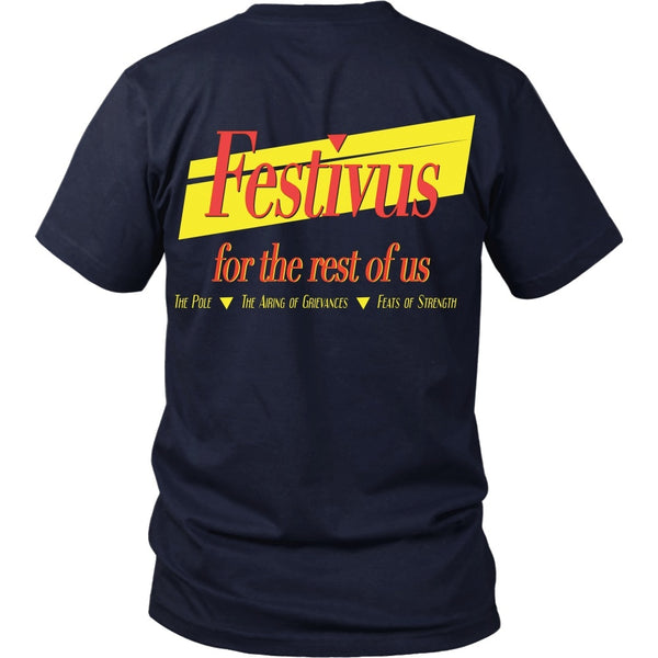 T-shirt - Seinfeld - Festivus For The Rest Of Us - Back Design