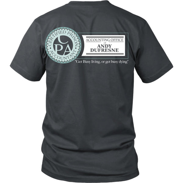 T-shirt - Shawshank Redemption - Dufresne Accounting - Back Design