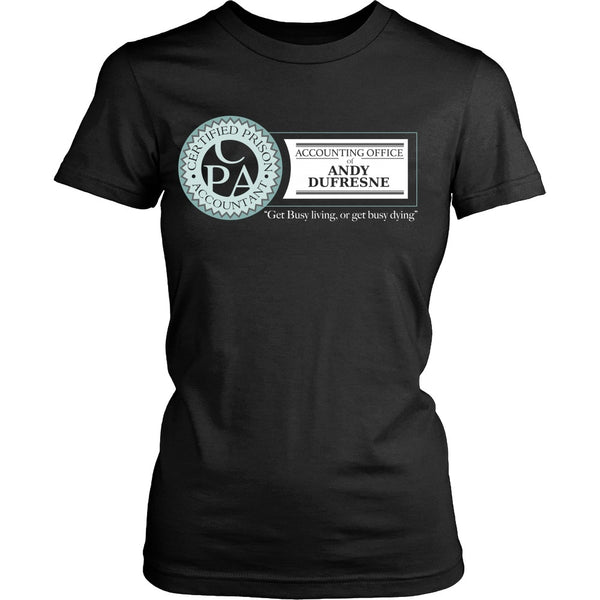 T-shirt - Shawshank Redemption - Dufresne Accounting - Front Design