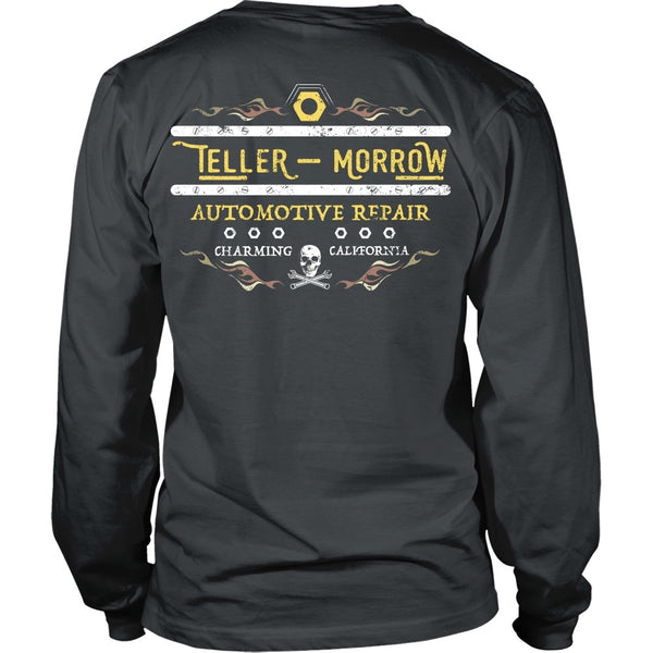T-shirt - Sons Of Anarchy Inspired - Teller & Morrow Automotive Repair - Back Design