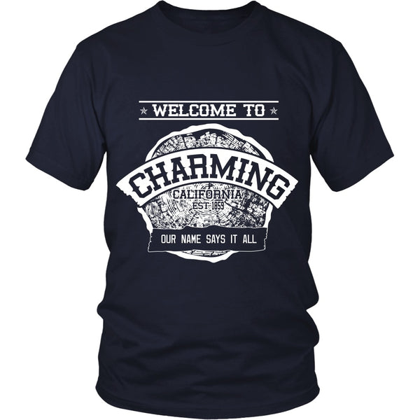 T-shirt - Sons Of Anarchy - Welcome To Charming - Front Design