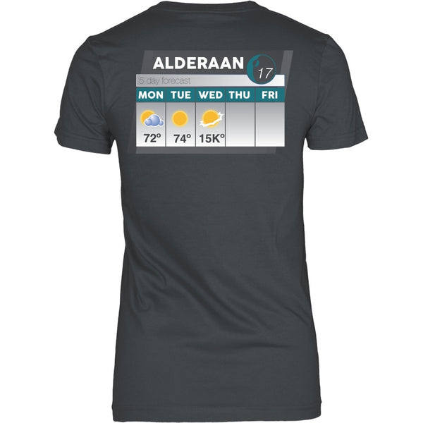 T-shirt - Star Wars - Alderaan Forecast - Back Design