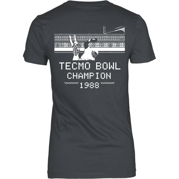 T-shirt - Tecmo Bowl - Tecmo Bowl Champion Tee - Back Design